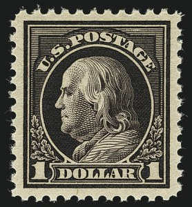 Sale Number 1111, Lot Number 583, 1917-19 Issues, Cont. (Scott 506-524)$1.00 Violet Brown (518), $1.00 Violet Brown (518)
