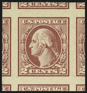 Sale Number 1111, Lot Number 597, 1918-21 Issues (Scott 525-550)2c Carmine Rose, Ty. IV, Imperforate (532), 2c Carmine Rose, Ty. IV, Imperforate (532)