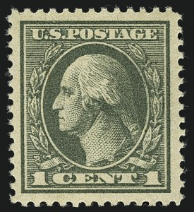 Sale Number 1111, Lot Number 604, 1918-21 Issues (Scott 525-550)1c Gray Green (536), 1c Gray Green (536)