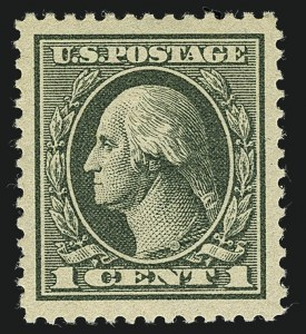 Sale Number 1111, Lot Number 605, 1918-21 Issues (Scott 525-550)1c Gray Green (536), 1c Gray Green (536)