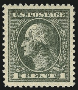 Sale Number 1111, Lot Number 606, 1918-21 Issues (Scott 525-550)1c Gray Green (536), 1c Gray Green (536)