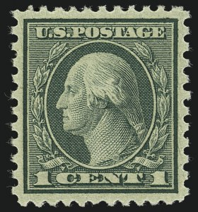 Sale Number 1111, Lot Number 609, 1918-21 Issues (Scott 525-550)1c Green, Rotary Perf 11 x 10 (538), 1c Green, Rotary Perf 11 x 10 (538)