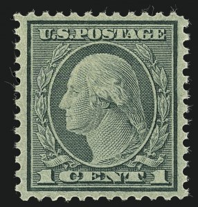 Sale Number 1111, Lot Number 611, 1918-21 Issues (Scott 525-550)1c Green, Rotary (545), 1c Green, Rotary (545)