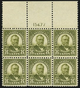 Sale Number 1111, Lot Number 624, 1922-25 Issues (Scott 551-573a)8c Olive Green (560), 8c Olive Green (560)