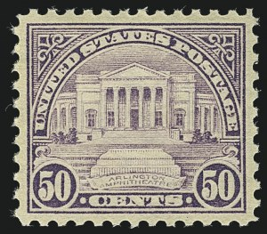Sale Number 1111, Lot Number 631, 1922-25 Issues (Scott 551-573a)50c Lilac (570), 50c Lilac (570)