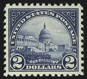 Sale Number 1111, Lot Number 633, 1922-25 Issues (Scott 551-573a)$2.00 Deep Blue (572), $2.00 Deep Blue (572)