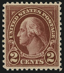 Sale Number 1111, Lot Number 659, 1923-29 Issues (Scott 575-657)2c Carmine, Ty. II (634A), 2c Carmine, Ty. II (634A)