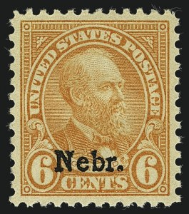 Sale Number 1111, Lot Number 683, 1929 Kansas-Nebraska Issue (Scott 658-679)6c Nebr. Ovpt. (675), 6c Nebr. Ovpt. (675)