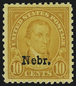 Sale Number 1111, Lot Number 690, 1929 Kansas-Nebraska Issue (Scott 658-679)10c Nebr. Ovpt. (679), 10c Nebr. Ovpt. (679)
