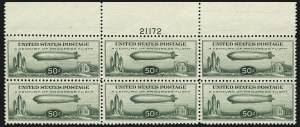 Sale Number 1111, Lot Number 749, Air Post50c Chicago Zeppelin (C18), 50c Chicago Zeppelin (C18)