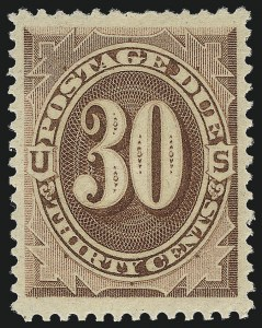 Sale Number 1111, Lot Number 770, Postage Due including Errors30c Red Brown (J20), 30c Red Brown (J20)