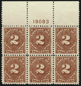 Sale Number 1111, Lot Number 775, Postage Due including Errors2c Rose Red (J62a), 2c Rose Red (J62a)