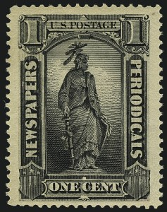 Sale Number 1111, Lot Number 813, Newspapers and Periodicals1c Intense Black, 1894 Issue (PR90), 1c Intense Black, 1894 Issue (PR90)