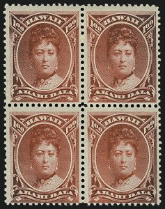 Sale Number 1112, Lot Number 1209, 1864-91 Royal Portraits (Scott 30-52)HAWAII, 1883, $1.00 Rose Red (49), HAWAII, 1883, $1.00 Rose Red (49)