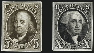 Sale Number 1113, Lot Number 2053, 1847 Issue: Plate Proofs5c and 10c 1847 Issue and 1875 Reproduction, Proofs Balance (1P3/4P4), 5c and 10c 1847 Issue and 1875 Reproduction, Proofs Balance (1P3/4P4)