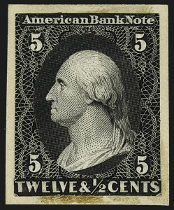 Sale Number 1113, Lot Number 2144, 1861-66 Issue: American Bank Note Co.American Bank Note Co., 5c Black, Die Essay on India (67-E6), American Bank Note Co., 5c Black, Die Essay on India (67-E6)