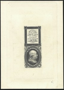 Sale Number 1113, Lot Number 2148, 1861-66 Issue: National Bank Note Co.1c Bowlsby Patent Coupon, Die Essay on India (63-E13a), 1c Bowlsby Patent Coupon, Die Essay on India (63-E13a)
