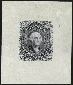 Sale Number 1113, Lot Number 2162, 1861-66 Issue: National Bank Note Co.National Bank Note Co., 24c Gray, Progressive Die Proof on India (70-E6), National Bank Note Co., 24c Gray, Progressive Die Proof on India (70-E6)