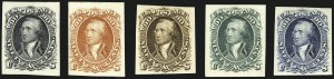Sale Number 1113, Lot Number 2171, 1861-66 Issue: National Bank Note Co.1c-90c 1861-66 Issue, Atlanta Trial Color Plate Proofs on Card (102TC4-111TC4), 1c-90c 1861-66 Issue, Atlanta Trial Color Plate Proofs on Card (102TC4-111TC4)