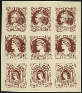 Sale Number 1113, Lot Number 2173, 1861-66 Issue: Unkown AuthorsUnknown Author, 2c-5c Indian and Liberty Designs, 1861-66 Essays (73-E3, 73-E4, 73-E5), Unknown Author, 2c-5c Indian and Liberty Designs, 1861-66 Essays (73-E3, 73-E4, 73-E5)