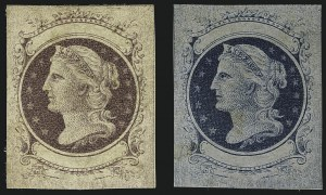 Sale Number 1113, Lot Number 2179, 1867 Issue: Unkown AuthorsUnknown Author, (Unstated Value) Dull Violet on White, Blue on Bluish, Die Essays (79-E12a, 79-E12b), Unknown Author, (Unstated Value) Dull Violet on White, Blue on Bluish, Die Essays (79-E12a, 79-E12b)