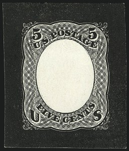 Sale Number 1113, Lot Number 2212, 1868 Experiments for Bi-Color Printing: National Bank Note Co.National Bank Note Co., 5c Black, Untrimmed Die Essay of Frame Only on Ivory Paper (79-E35c), National Bank Note Co., 5c Black, Untrimmed Die Essay of Frame Only on Ivory Paper (79-E35c)