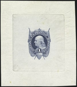 Sale Number 1113, Lot Number 2229, 1c-3c 1869 Pictorial Issue: National Bank Note Co.1c Blue, Die Essay on India (112-E5c), 1c Blue, Die Essay on India (112-E5c)