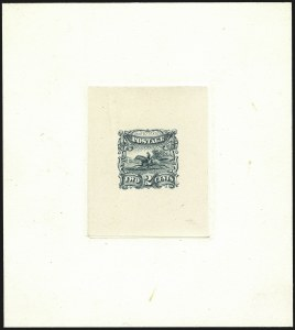 Sale Number 1113, Lot Number 2231, 1c-3c 1869 Pictorial Issue: National Bank Note Co.2c Small Numeral, Die Essay on India (113-E3a), 2c Small Numeral, Die Essay on India (113-E3a)