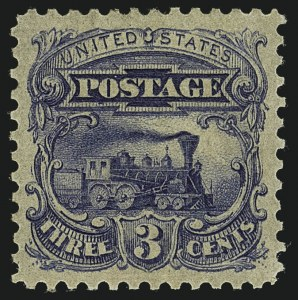 Sale Number 1113, Lot Number 2238, 1c-3c 1869 Pictorial Issue: National Bank Note Co.3c Dark Ultramarine, Small Numeral, Plate Essay on Stamp Paper, Perforated 12, Ungrilled (114-E6), 3c Dark Ultramarine, Small Numeral, Plate Essay on Stamp Paper, Perforated 12, Ungrilled (114-E6)