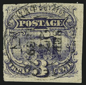 Sale Number 1113, Lot Number 2239, 1c-3c 1869 Pictorial Issue: National Bank Note Co.3c Ultramarine, Plate Proofs, Allover Grill (114-E7a-d), 3c Ultramarine, Plate Proofs, Allover Grill (114-E7a-d)