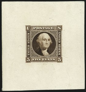 Sale Number 1113, Lot Number 2245, 5c-10c 1869 Pictorial Issue: National Bank Note Co.5c Washington, Small Lettering, Die and Plate Essays (115-E2b, 115-E2c, 115-E2d), 5c Washington, Small Lettering, Die and Plate Essays (115-E2b, 115-E2c, 115-E2d)