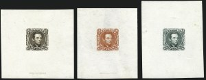 Sale Number 1113, Lot Number 2248, 5c-10c 1869 Pictorial Issue: National Bank Note Co.10c Lincoln, Large Die Essays on India, Proof Paper (116-E1c, 116-E1d), 10c Lincoln, Large Die Essays on India, Proof Paper (116-E1c, 116-E1d)