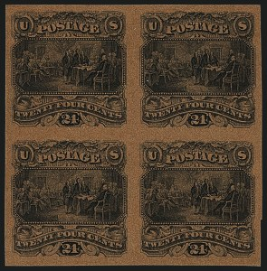 Sale Number 1113, Lot Number 2275, 24c 1869 Pictorial Issue: National Bank Note Co.24c Black on Tinted Papers, Small Numeral Plate Essays (120-E2c, 120-E2d, 120-E2e, 120-E2h), 24c Black on Tinted Papers, Small Numeral Plate Essays (120-E2c, 120-E2d, 120-E2e, 120-E2h)