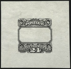 Sale Number 1113, Lot Number 2276, 24c 1869 Pictorial Issue: National Bank Note Co.24c Black, Frame Only, Progressive Die Proof on India (120-E3b), 24c Black, Frame Only, Progressive Die Proof on India (120-E3b)