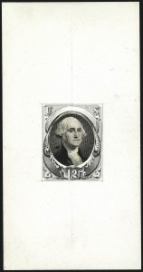 Sale Number 1113, Lot Number 2322, 12c-90c 1870-73 Bank Note Issue: National Bank Note Co.National Bank Note Co., 12c Washington, Vignette Die Essay Mounted in Watercolor and Pencil Drawn Frame on India (151-E4), National Bank Note Co., 12c Washington, Vignette Die Essay Mounted in Watercolor and Pencil Drawn Frame on India (151-E4)