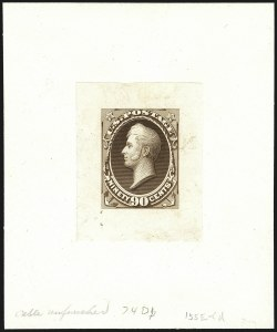 Sale Number 1113, Lot Number 2328, 12c-90c 1870-73 Bank Note Issue: National Bank Note Co.National Bank Note Co., 90c Perry, Progressive Large Die Proofs on India and White Ivory Paper (155-E3a, 155-E3b, 155-E5a), National Bank Note Co., 90c Perry, Progressive Large Die Proofs on India and White Ivory Paper (155-E3a, 155-E3b, 155-E5a)