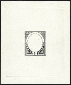 Sale Number 1113, Lot Number 2358, 1890-93 Issue: American Bank Note Co.American Bank Note Co., 10c Black, Unadopted Frame, Die Essay on White Glazed Paper (226-E2), American Bank Note Co., 10c Black, Unadopted Frame, Die Essay on White Glazed Paper (226-E2)