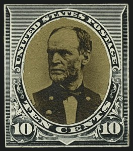 Sale Number 1113, Lot Number 2360, 1890-93 Issue: American Bank Note Co.American Bank Note Co., 10c Dark Green, Frame Mounted over Photo of William T. Sherman (226-E4), American Bank Note Co., 10c Dark Green, Frame Mounted over Photo of William T. Sherman (226-E4)