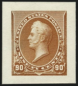 Sale Number 1113, Lot Number 2362, 1890-93 Issue: American Bank Note Co.1c-90c 1890-93 Issue, Small Die Proofs on Wove (219P2, 220P2-229P2), 1c-90c 1890-93 Issue, Small Die Proofs on Wove (219P2, 220P2-229P2)
