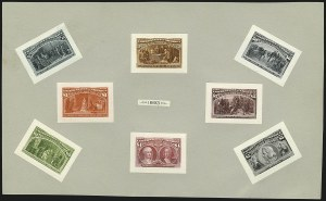 Sale Number 1113, Lot Number 2366, 1893 Columbian Issue: American Bank Note Co.1c-$5.00 Columbian, Small Die Proofs on Wove (230P2-245P2), 1c-$5.00 Columbian, Small Die Proofs on Wove (230P2-245P2)