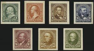 Sale Number 1113, Lot Number 2388, 1894-98 Issues: Bureau of Engraving & Printing1c-15c 1898 Issue, Panama-Pacific Small Die Proofs on Wove (279P2a-284P2a), 1c-15c 1898 Issue, Panama-Pacific Small Die Proofs on Wove (279P2a-284P2a)