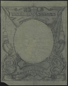Sale Number 1113, Lot Number 2395, 1902-20 Issues2c 1902 Issue, Preliminary Pencil Sketch for Frame Design on Tracing Paper (301-E1), 2c 1902 Issue, Preliminary Pencil Sketch for Frame Design on Tracing Paper (301-E1)