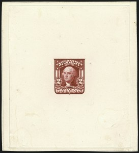 Sale Number 1113, Lot Number 2397, 1902-20 Issues2c Carmine, Ty. I, Large Die Proof on India (319P1), 2c Carmine, Ty. I, Large Die Proof on India (319P1)