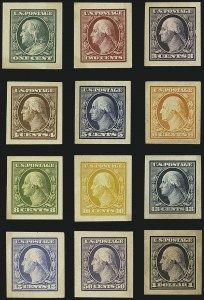 Sale Number 1113, Lot Number 2401, 1902-20 Issues1c-$1.00 1908-09 Issue, Panama-Pacific Small Die Proofs (331P2a-342P2a), 1c-$1.00 1908-09 Issue, Panama-Pacific Small Die Proofs (331P2a-342P2a)