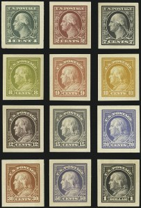 Sale Number 1113, Lot Number 2405, 1902-20 Issues1c-$1.00 1912-14 Issue, Panama-Pacific Small Die Proofs (405P2a-407P2a, 414P2a-421P2a, 423P2a), 1c-$1.00 1912-14 Issue, Panama-Pacific Small Die Proofs (405P2a-407P2a, 414P2a-421P2a, 423P2a)