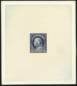 Sale Number 1113, Lot Number 2407, 1902-20 Issues13c Franklin, Large Die Trial Color Proofs on India (513TC1), 13c Franklin, Large Die Trial Color Proofs on India (513TC1)