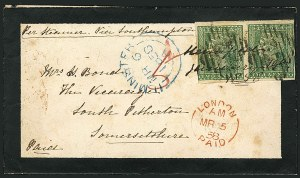 Sale Number 1114, Lot Number 1000, IndiaINDIA, 1854, 2a Green (5; SG 31), INDIA, 1854, 2a Green (5; SG 31)