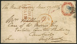 Sale Number 1114, Lot Number 1004, IndiaINDIA, 1854, 4a Red & Blue (6; SG 25), INDIA, 1854, 4a Red & Blue (6; SG 25)
