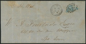 Sale Number 1114, Lot Number 1019, JamaicaJAMAICA, 1860, 1p Blue, Diagonal Half Used as -1/2p (1a), JAMAICA, 1860, 1p Blue, Diagonal Half Used as -1/2p (1a)