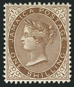 "Sale Number 1114, Lot Number 1029, JamaicaJAMAICA, 1897, 1sh Brown, ""$"" for ""S"" in Shilling (28 var; SG 24a), JAMAICA, 1897, 1sh Brown, ""$"" for ""S"" in Shilling (28 var; SG 24a)"